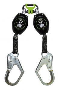 SAFEWAZE 7' Web Retractable Dual Leg with In-Webbing Bracket and Rebar Hook