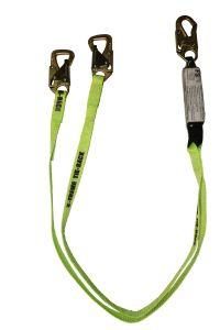 SAFEWAZE Tie-Back Energy Absorbing Lanyard Dual Leg - Web