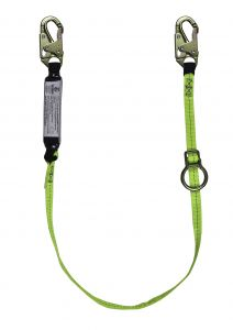 SAFEWAZE Tie-Back Energy Absorbing Lanyard - Web with Adjustable ring