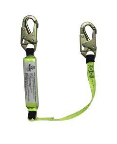SAFEWAZE 3' Energy Absorbing Lanyard with Double Locking Snap Hooks