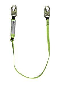 SAFEWAZE 6' Energy Absorbing Lanyard with Double Locking Snap Hooks