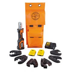 Klein Battery-Op 7-Ton Cable Cutter and Crimper Kit