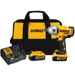 DEWALT 20V MAX XR High Torque Impact Wrench with Hog Ring Retention Pin Anvil Kit (5AH)