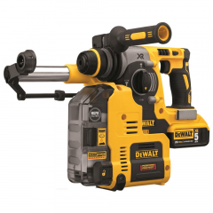 """DEWALT 20V Max XR Brushless SDS-Plus 3-Mode 1"""" Rotary Hammer Kit (with Dust Extraction)"""