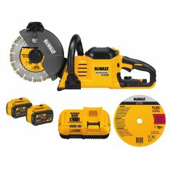 "DEWALT FLEXVOLT 60V MAX Brushless 9"" Cut-Off Saw 9Ah Kit"