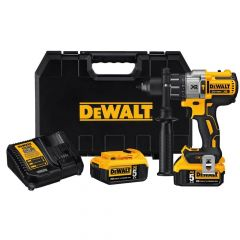 DEWALT 20V MAX* XR Lithium Ion Brushless Premium 3-Speed Hammerdrill Kit (5.0Ah)