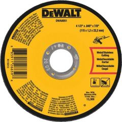 "DEWALT 4-1/2"" x .045"" x 7/8"" Metal Cut-Off Wheel 10/bx"