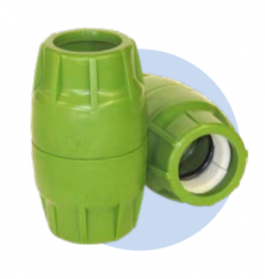"Dura-Line Push Lock 2.00"" True - Green"