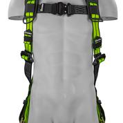SAFEWAZE PRO+ Pro+ No-Tangle Single D-Ring Harness with Grommet Leg Straps & Back Pad: S/M