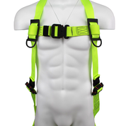 SAFEWAZE PRO+ Arc Flash Dielectric Harness with Quick-Connect Chest and Leg Buckles: S/M