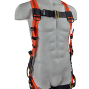 SAFEWAZE Three D-Ring Harness with Grommet Leg Straps & Side Positioning D-Rings: Universal Sizing