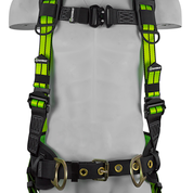 SAFEWAZE FLEX Construction Harness with Fixed D-Ring: S