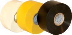 "Electro-Tape  4""  (100 mm)    x 100 ft 10mil General Purpose PVC Pipe Wrap Tape - Yellow 12/CS"
