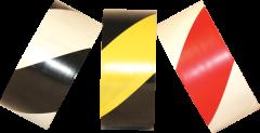 "Electro-Tape  4""  (100 mm)   x 36 yd Safety Striped PVC Marking Tape - Black/White 12/CS"