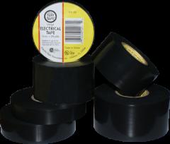 "Electro-Tape 1""     (25mm)     x   66 ft 7mil Black General Purpose Vinyl Electrical Tape 48/CS"