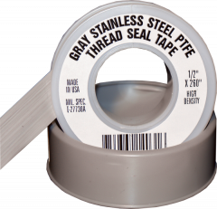 "Electro-Tape 1/2"" x 260 in  Stainless Steel Grade PTFE Pipe Thread Seal Tape 144/CS"