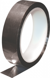 """Electro-Tape 1/4"""" (6.3mm)    x 72 yd Metalized Polyester Tape - Acrylic Adhesive - Silver 24/CS"""
