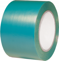 "Electro-Tape 12"" (300 mm)  x  36 yd PVC Protective Threshold Tape  -  Light Blue 4/CS"