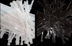 "Electro-Tape 14"" X 50 lb. Black UV Resistant Nylon Cable Ties 100/Bag 100/CS"
