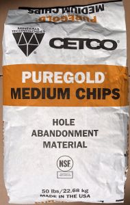 CETCO PUREGOLD MEDIUM CHIPS 50 LB BAG - Sold by the BAG