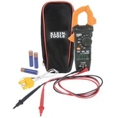 Klein Digital Clamp Meter, AC Auto-Ranging 400 Amp with Temp