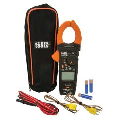 Klein Electrical Tester, HVAC Clamp Meter with Differential Temperature